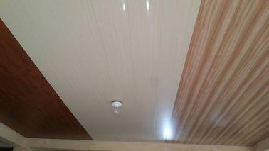 중국 20cm x 6mm 편평한 PVC 천장판 포부 나무로 되는 디자인 없음 대리점